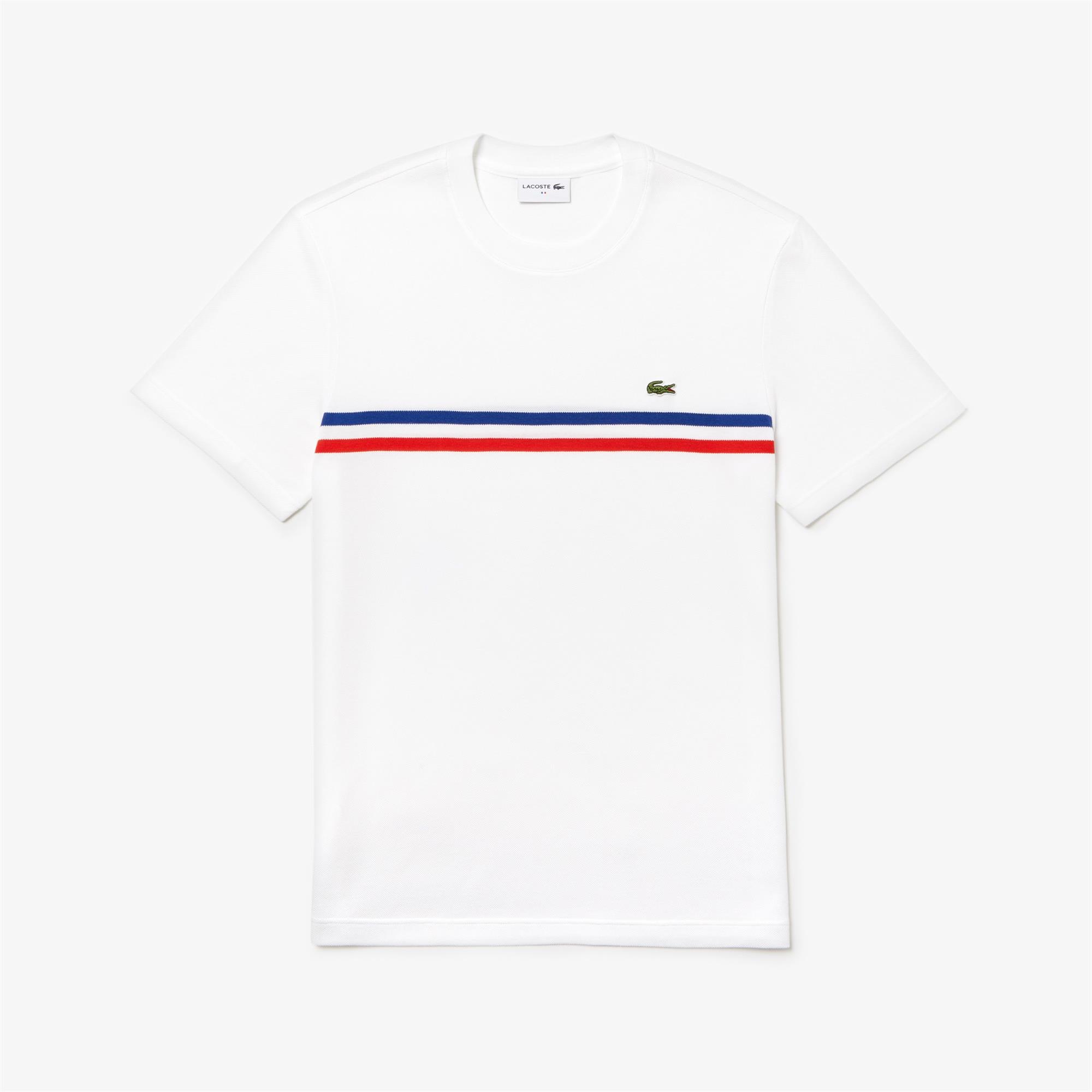 089ca3a2 Lacoste Mens T-Shirt White/Salvia/Captain
