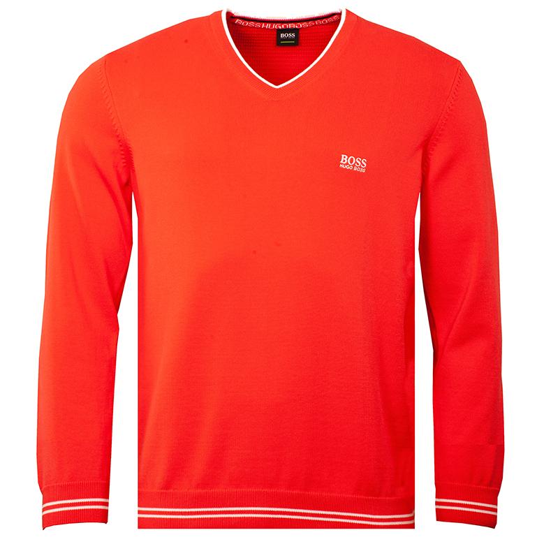 red hugo boss sweater