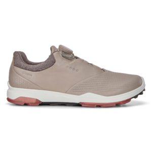 Ecco Biom Hybrid 3 Boa Gore-Tex Ladies Golf Shoe Grey/Rose Petal
