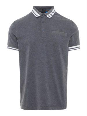 J Lindeberg Bruce Regular Fit Polo Shirt Grey Melange