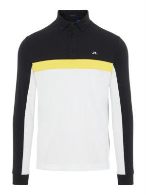 J Lindeberg Ethan Slim Fit TX Long Sleeve Polo Shirt Black