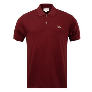 Lacoste Mens Classic Fit Polo Shirt Bordeaux