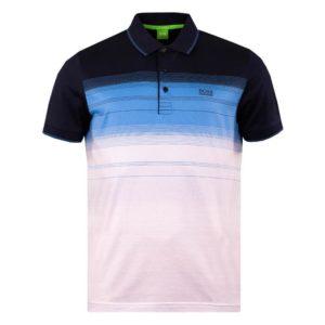 Hugo Boss Paddy 3 Polo Shirt Navy/Blue/White Block