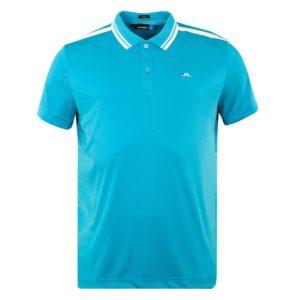 J Lindeberg Ted Slim Fit TX Coolmax Polo Shirt Blue