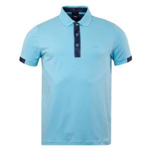 Hugo Boss Mens Paule 2 Polo Shirt Open Blue