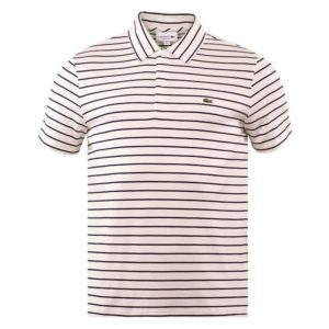 Lacoste Mens Golf Polo Shirt Flour/Navy