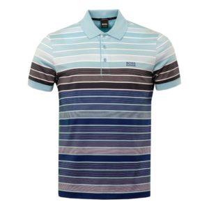 Hugo Boss Mens Paddy 3 Polo Shirt Blue