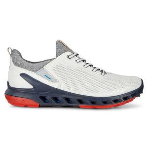 Ecco Biom Cool Pro Gore-Tex Mens Golf Shoe White/Scarlet