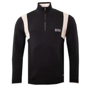 Hugo Boss Zelchior Pro Mens Zip Neck Sweater Navy