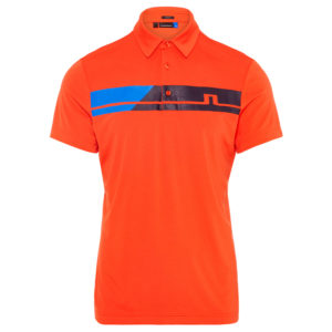 J Lindeberg Clark Regular Fit TX Polo Shirt Tomato Red