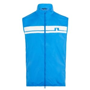 J Lindeberg Lou Light Stretch Wind Pro Vest True Blue