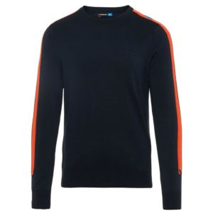 J Lindeberg Kevin Crew Neck Pima Cotton Jumper Navy