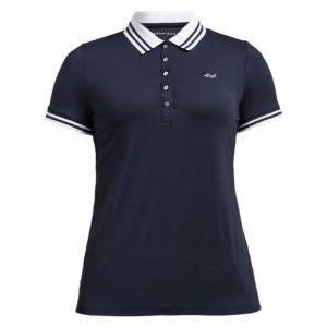 Rohnisch Stripe Polo Shirt Navy