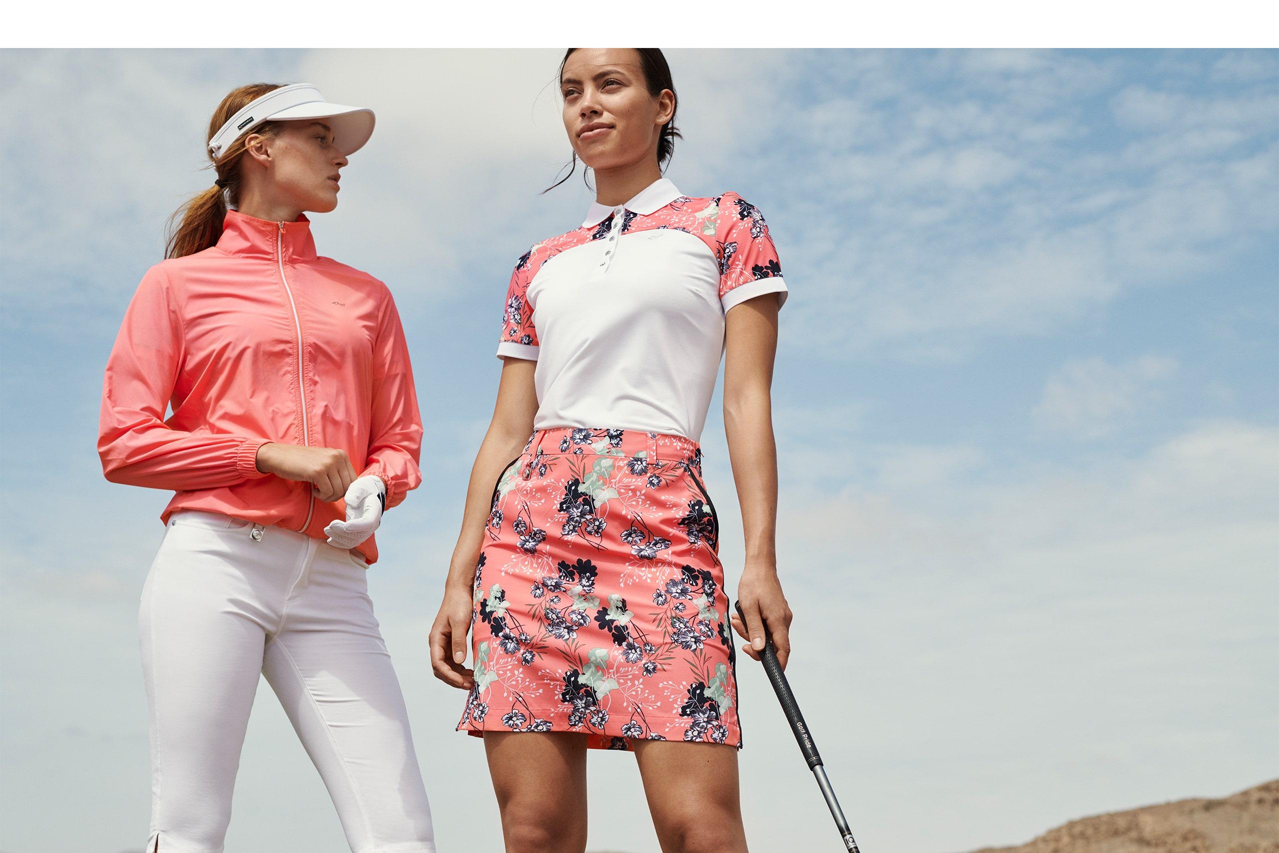 Rohnisch Ladies Golf Summer Outfits Skorts Polo Shirts