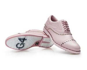 Ladies G/Fore Welt Stud Blush Golf Shoe