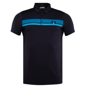 J Lindeberg Clark Regular Fit Golf Polo Shirt Navy