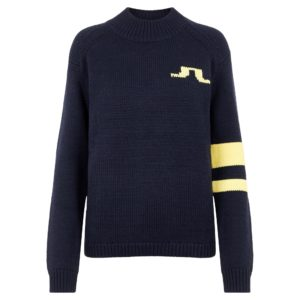 J Lindeberg Cecile Big Bridge Ladies Golf Jumper Navy