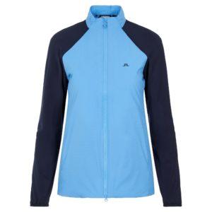 J Lindeberg Liv Hybrid Ladies Golf Jacket Ocean Blue
