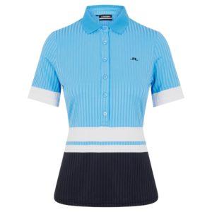 J Lindeberg Nina Ladies Golf Polo Shirt Ocean Blue