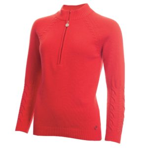 Green Lamb GIGI Superwool Ladies Golf Jumper Watermelon