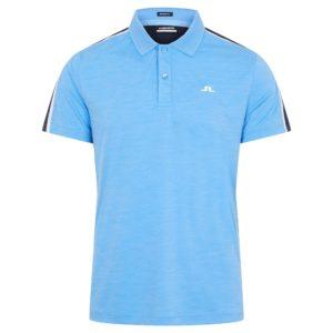 J Linderberg Flinn Regular Fit Polo Shirt Ocean Blue-XL
