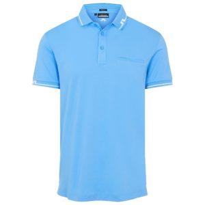 J Lindeberg Bill Regular Fit Polo Shirt Ocean Blue-XL