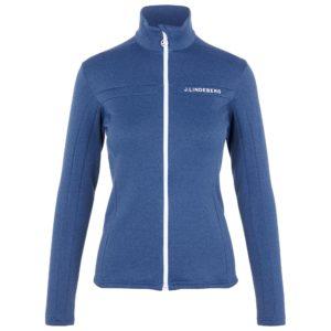 J Lindeberg Flora Waterproof Ladies Golf Mid Layer Midnight Blue Melange-L