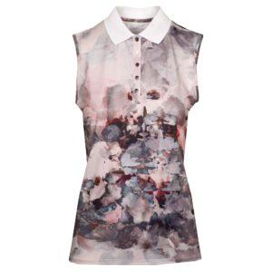 Rohnisch Direction Sleeveless Polo Shirt Nude Aqurelle-XL