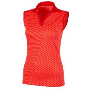 Galvin Green Mira Ventil8+ Ladies Sleeveless Golf Polo Shirt Lipgloss Red-XL