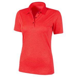 Galvin Green Madelene Ventil8+ Ladies Golf Polo Shirt Lipgloss Red-XL