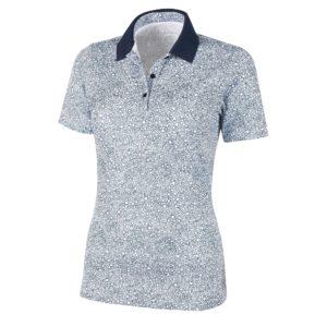 Galvin Green Madelene Ventil8+ Ladies Golf Polo Shirt White/Navy-XL