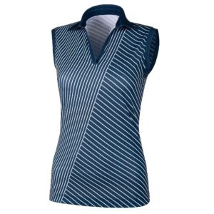Galvin Green Mira Ventil8+ Ladies Sleeveless Golf Polo Shirt Navy/White-XL