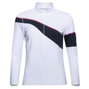 Cross Wave Full Zip Ladies Golf Mid Layer White-XL