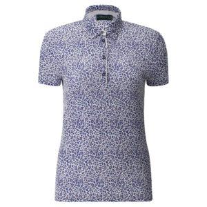 Chervo Abito Deco Print Ladies Golf Polo Shirt Blue-16
