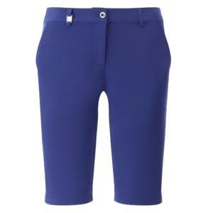 Chervo Ghiaia Superflex Ladies Golf Bermuda Shorts Blue-16