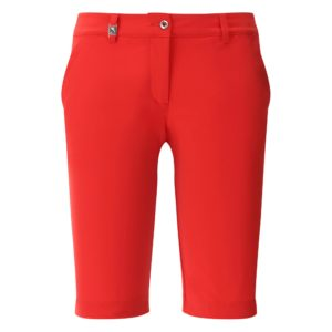 Chervo Ghiaia Superflex Ladies Golf Bermuda Shorts Red-16