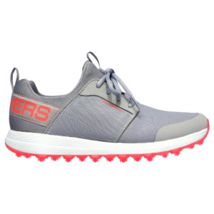 Skechers Max Sport Ladies Golf Shoe Grey / Neon Coral-8