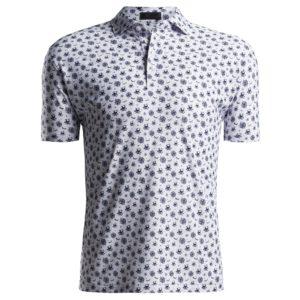 G/FORE Sketch Printed Polo Shirt Snow-XL