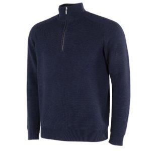 Galvin Green Chester Sweater Navy Melange-XXL