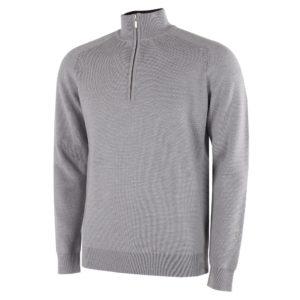 Galvin Green Chester Sweater Grey Melange-XXL
