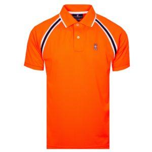 Psycho Bunny Tapton Sport Polo Shirt Shocking Orange-6